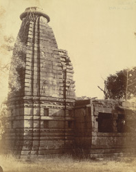 General view of large temple at Khalari, Raipur District